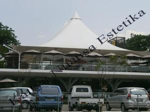 Tenda Membrane single Cone | Tenda Cafe | D'Cost Semarang