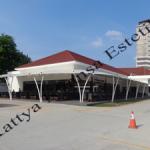 Tenda Membrane Carport | Tenda Cafe | D'Cost Abdul Mu'is Jakarta