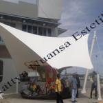 Tenda Membrane Hypar   Kanopi   KFC Manado