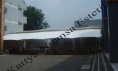 tenda membrane BPK Penabur Serpong