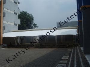Tenda Membrane Carport   Kanopi   BPK Penabur Serpong
